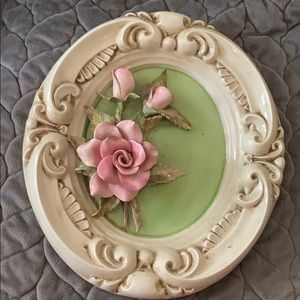 """Vintage art Pink Roses 11 x 9.5""""  all one piece"""